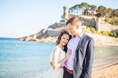 Brautpaarshooting-Strand-Burgruinen