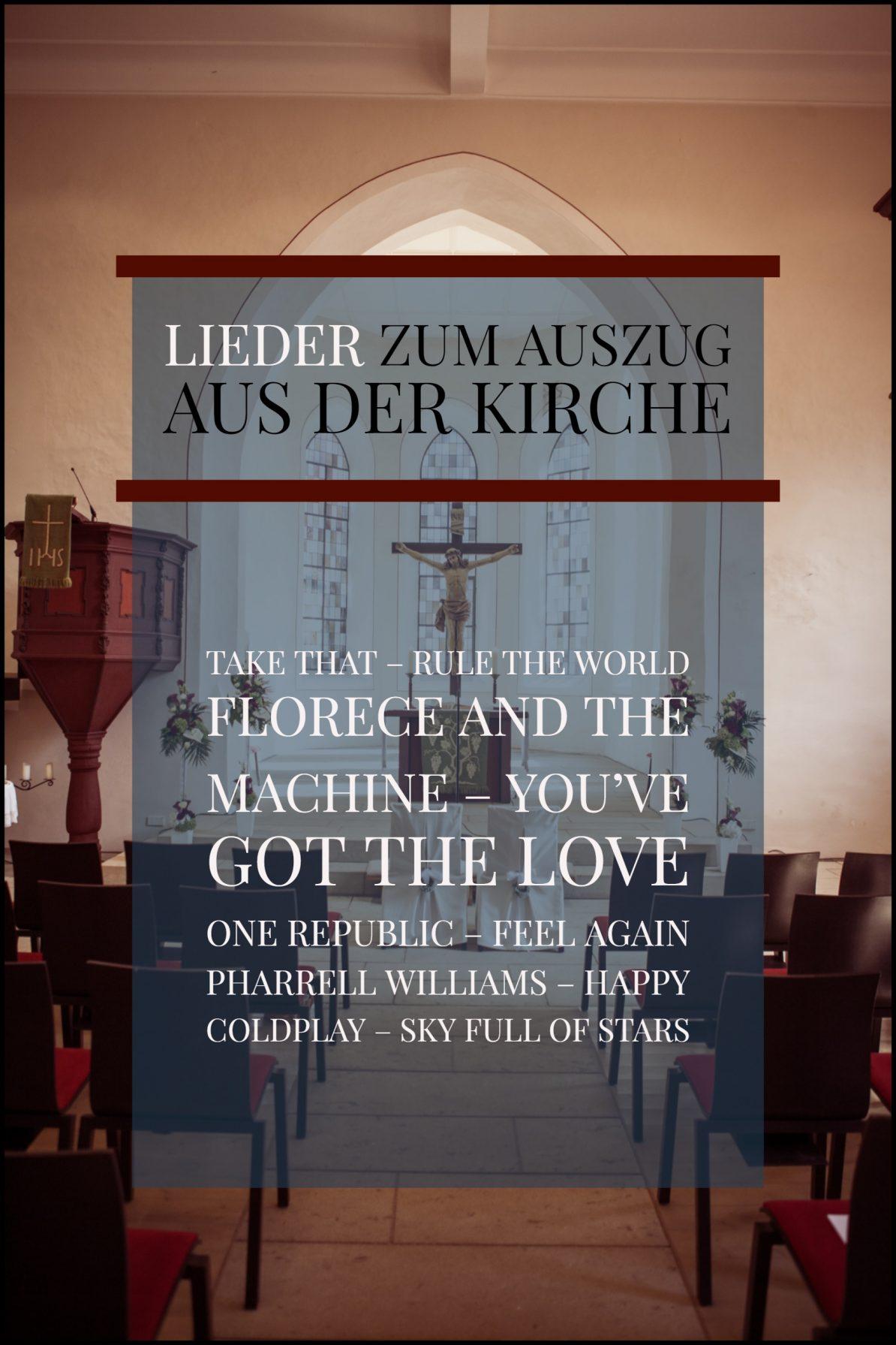 Lieder zum Auszug aus der Kirche