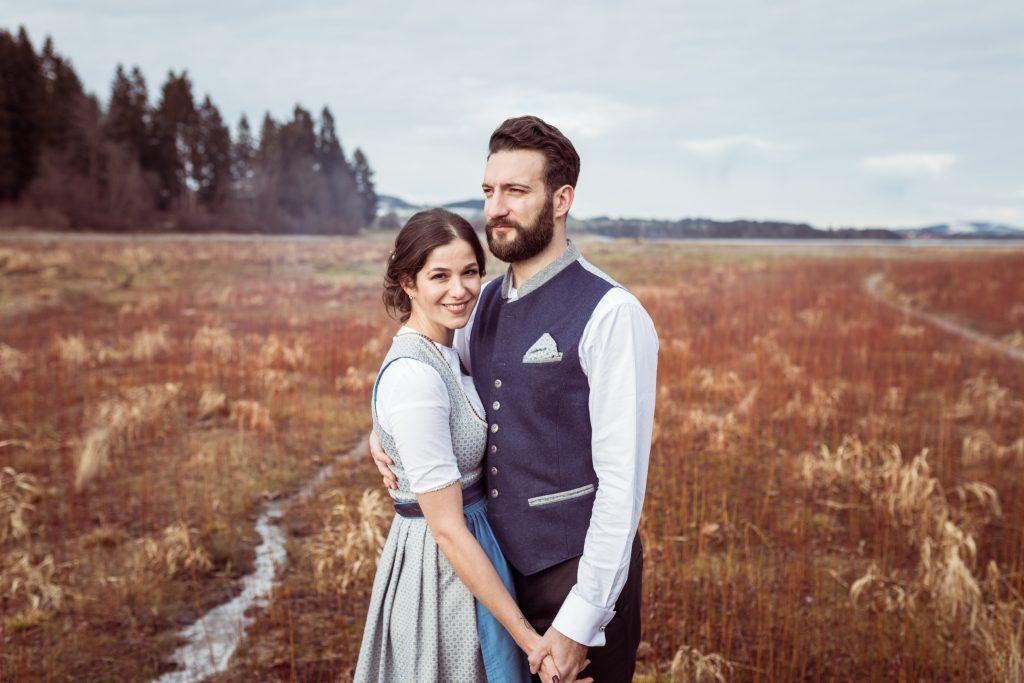 Afterwedding Brautpaar Shooting in Tracht in Füssen