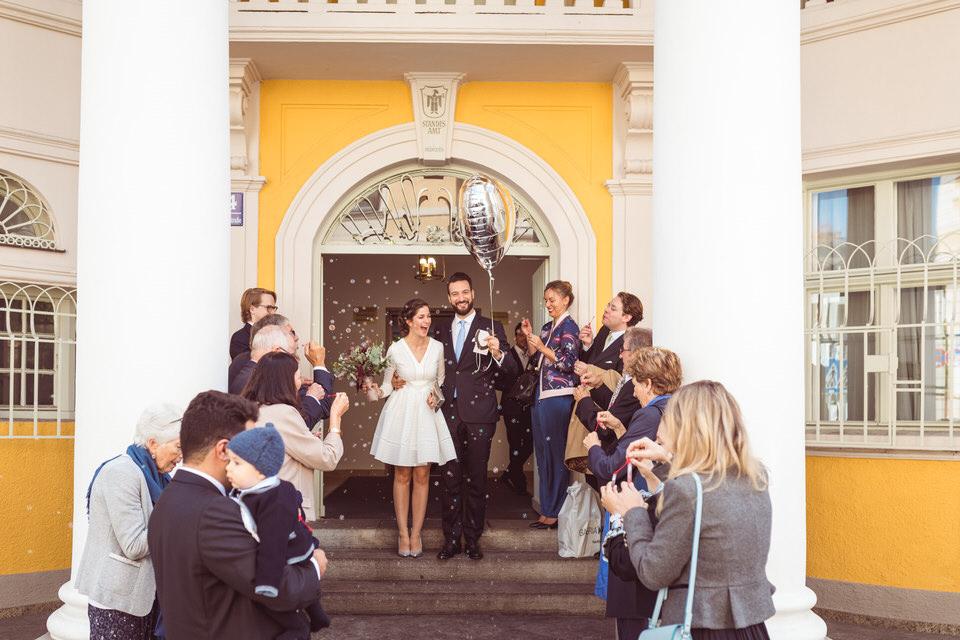 Standesamtliche Hochzeit in der Mandelstraße München