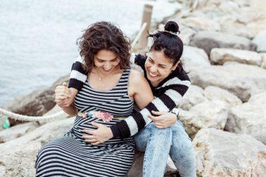 Schwangerschaftsshooting in Barcelona