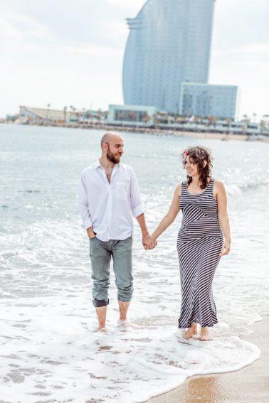 Babybauchshooting am Strand