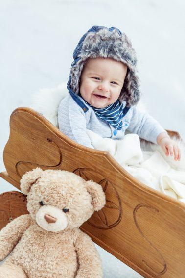 Kinderfotos im Schnee