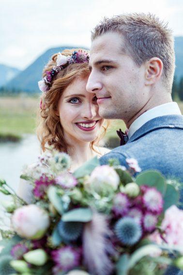 Boho Hochzeit in Sankt Urlich im Pillerseetal in Tirol
