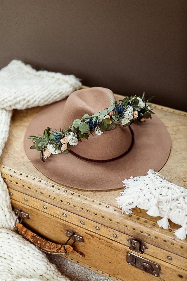 Blumenkranz Boho Hochzeit Mühlenhof Kalkar
