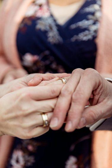 Ringtausch Boho Hochzeit Mühlenhof