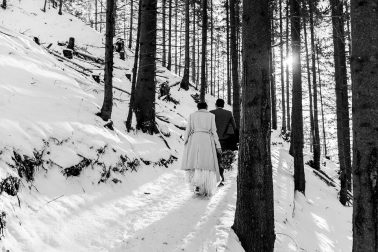 Berghochzeit im Winter im Allgäu