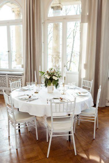 Elegante Winterhochzeit Villa Kalles