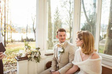Freie Trauung Elegante Winterhochzeit Villa Kalles