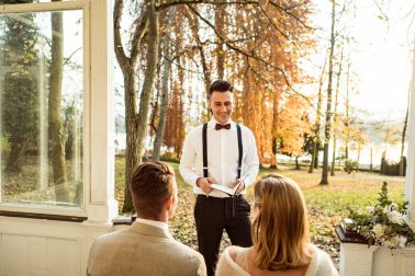 Freie Trauung Elegante Herbsthochzeit Villa Kalles