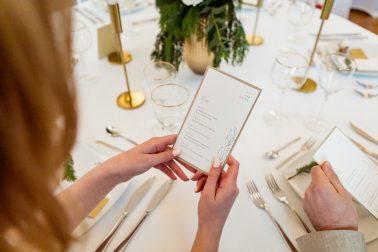 Hochzeitsmenü Papeterie Eva Zweiklein Villa Kalles