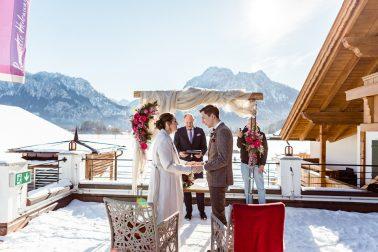 Freie Trauung im Winter Hotel das Rübezahl Schwangau Schloss Neuschwanstein