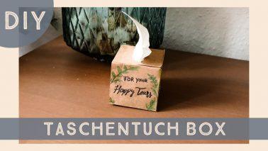 DIY Vorlage Taschentuchbox für Freudentränen