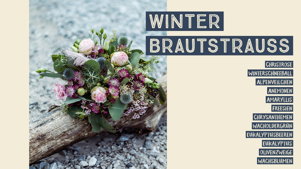 Winter Brautstrauß