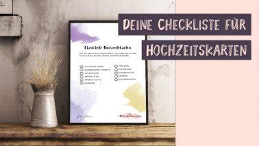Checkliste Einladung