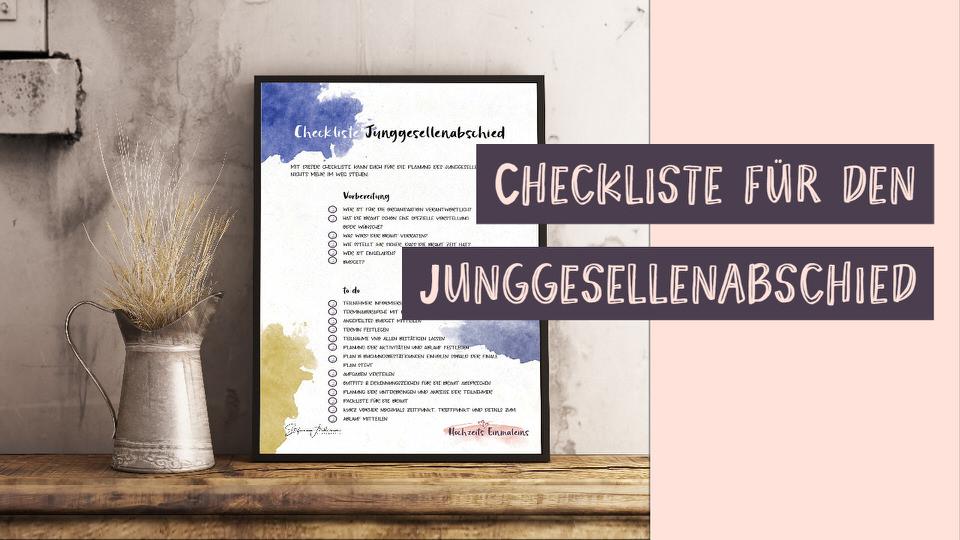 Checkliste Junggesellenabschied
