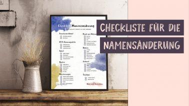 Checkliste Namensabänderung