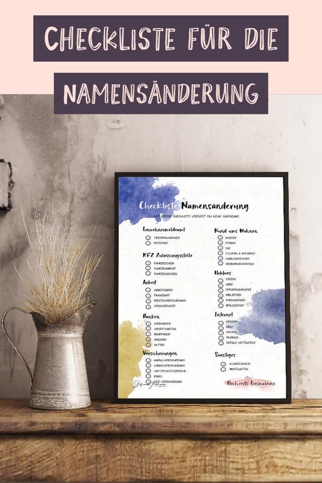 Checklist-Namensabänderung