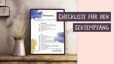 Checkliste Sektempfang