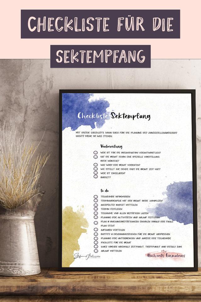 Checkliste-Sektempfang