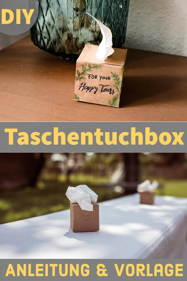 Anleitung und Vorlage für DIY Taschentuchbox für Freudentränen