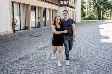 Babybauchshooting am Schloss Eller Düsseldorf