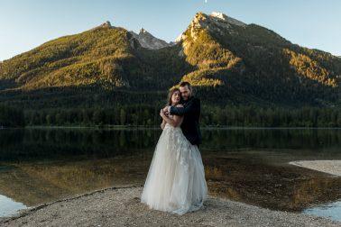 Heiraten Brautpaar am HinterseeHeiraten Brautpaar am Hintersee