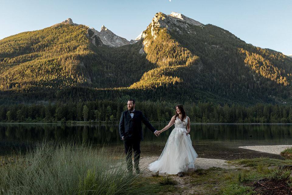 Heiraten Brautpaar am Hintersee