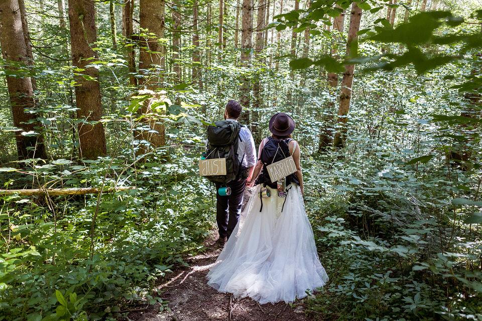 Hochzeit Brautpaar im Zauberwald Königssee