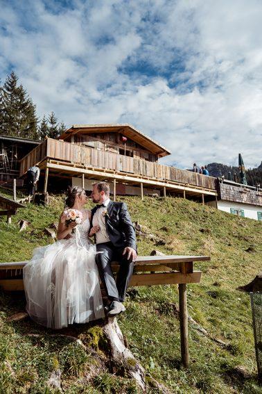 Elopement Hochzeit Rohrkophütte Rübezahl in Füssen