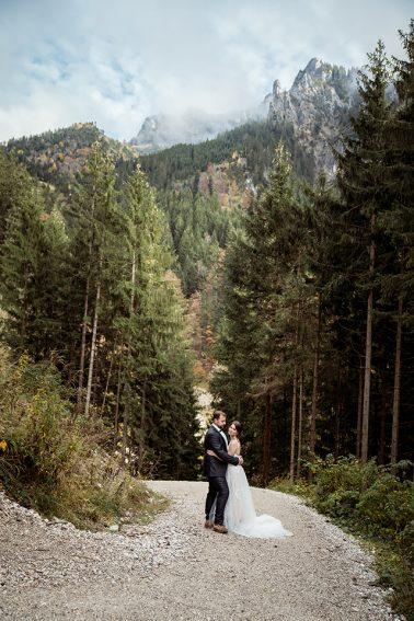 Hochzeit auf der Rohrkopfhütte am Schloss Neuschwanstein in Füssen