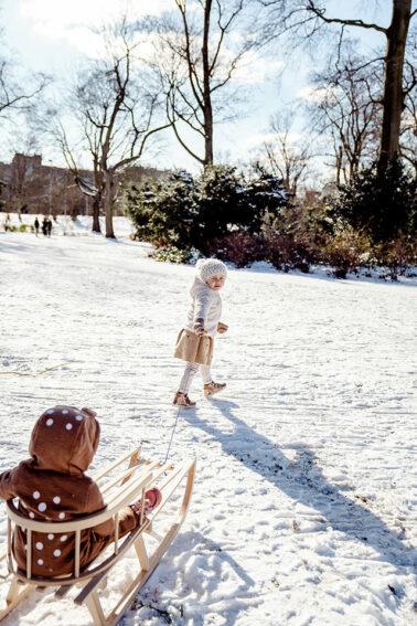 Kindershooting im Hofgarten Düsseldorf im Schnee