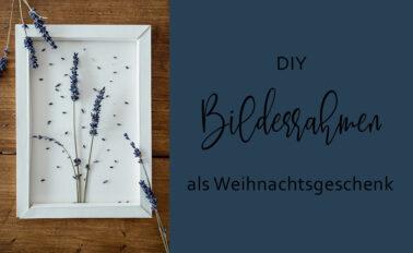 DIY Anleitung Bilderrahmen aus Fotokarton als Weihnachtsgeschenk